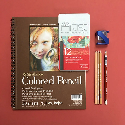 Kit #41 - Intro to Coloured Pencils