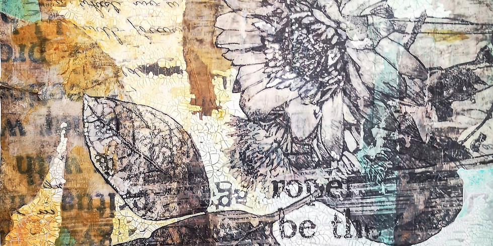 Paint Along: Photo Transfer and Crackle Ground - Online