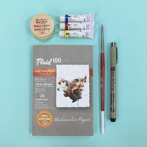 Kit #6 - Watercolour & Pen