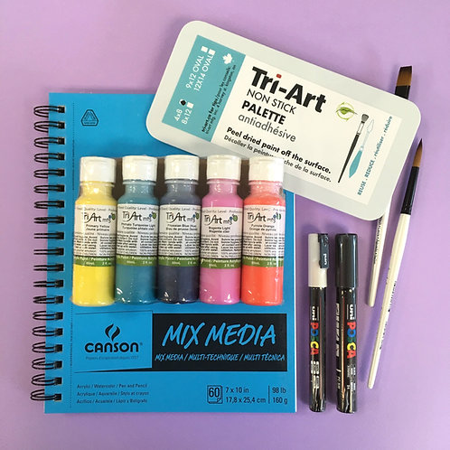 Kit #2 - Fun Acrylic Mixed Media Set