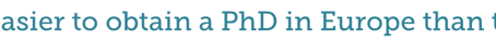 Is a European PhD comparable to a North American one?