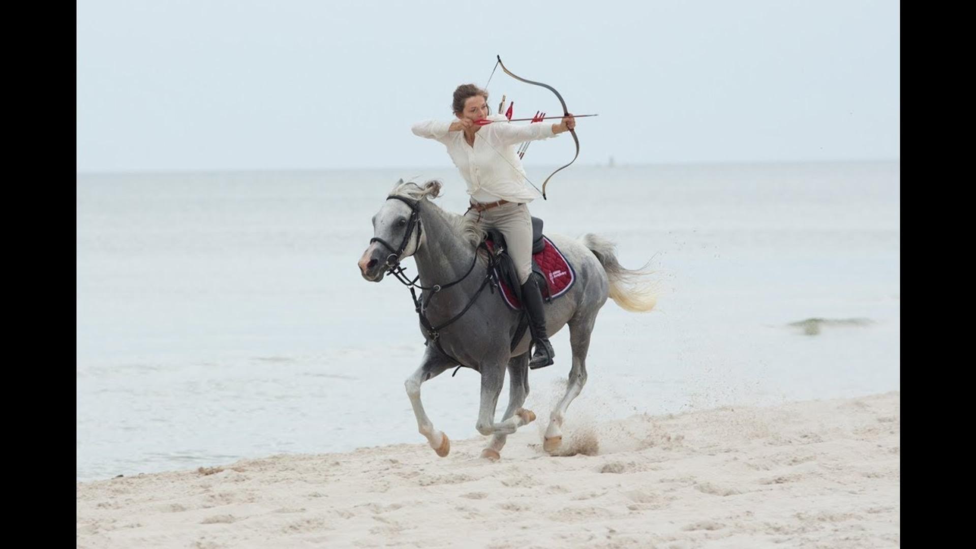 Reiter mit Bogen und Pfeil