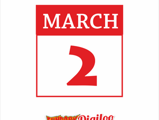 2nd of March Fun Park will be open from 5:00 pm