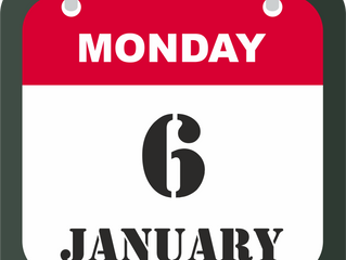 6th of January we are Open!