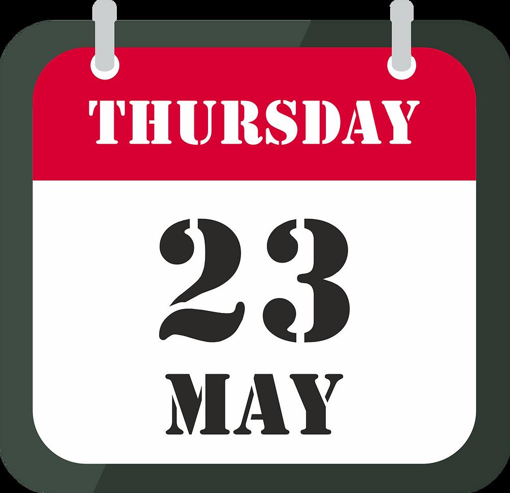 23 may