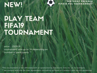 FIFA 19 Tournament - now available at the birthday party in Fun Park Digiloo!