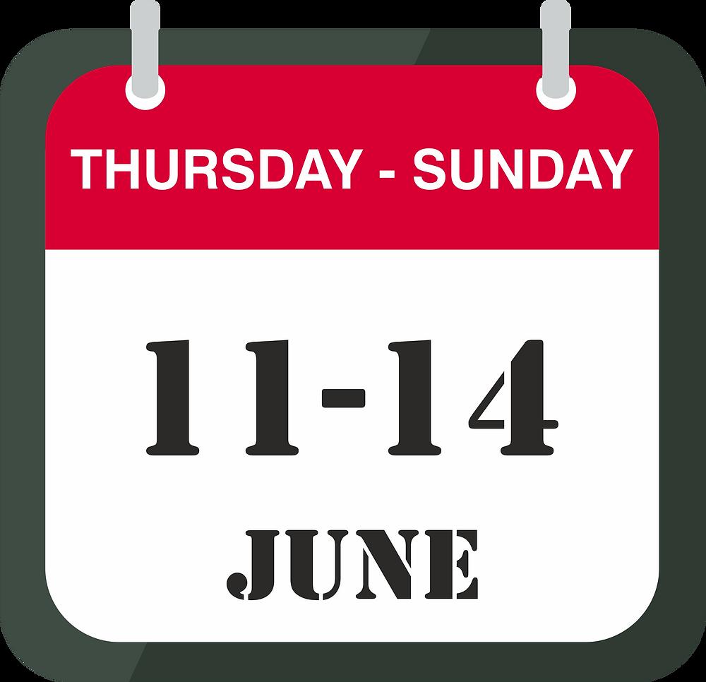 11-14 of June