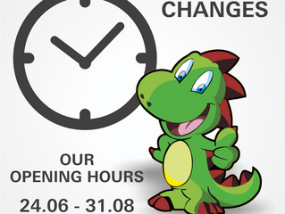 Changes! Our opening hours on holidays.