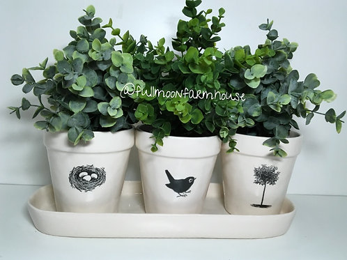 Rae Dunn Nest/Bird/Tree Planter