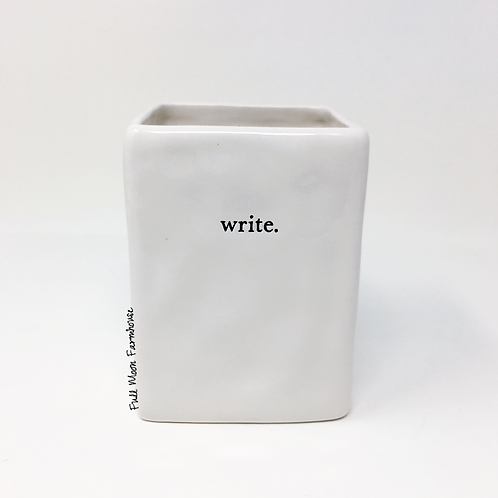 Rae Dunn Small Typeface Font Pencil Holder