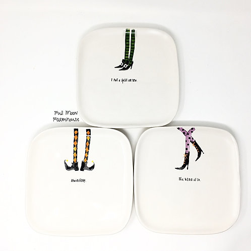Rae Dunn Witch's Plates (Set of 3)