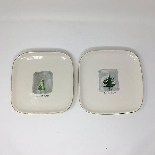 Rae Dunn Christmas Tree Plate