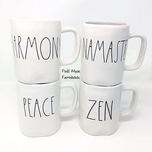 Rae Dunn Harmony Namaste, Peace or Zen Mug