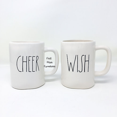 Rae Dunn Cheer or Wish Mug