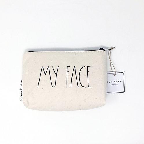 Rae Dunn My Face Cosmetic Bag