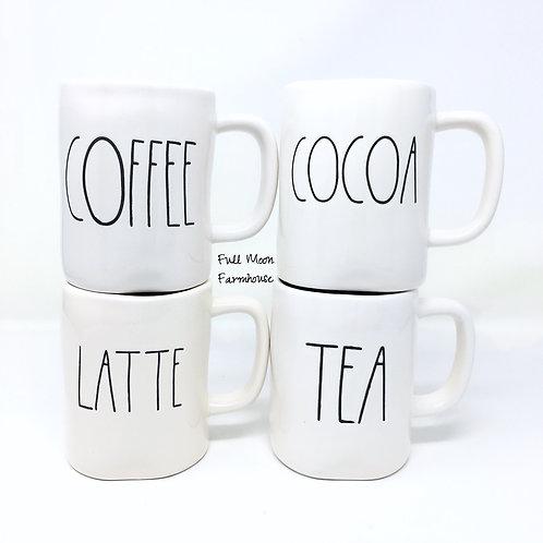 Rae Dunn Coffee, Cocoa, Latte or Tea