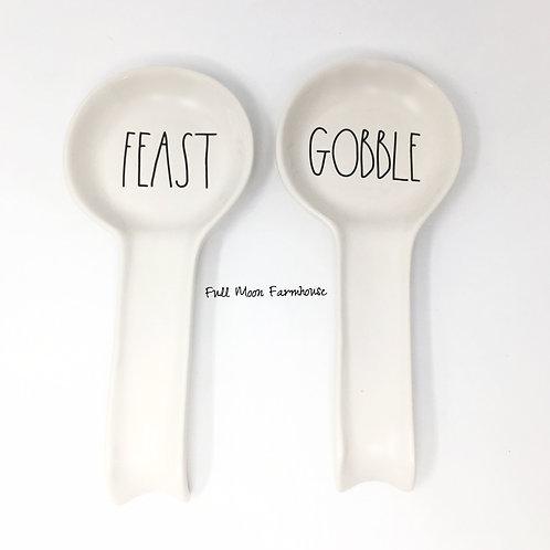 """Rae Dunn """"Feast"""" or """"Gobble"""" Spoon Rest"""