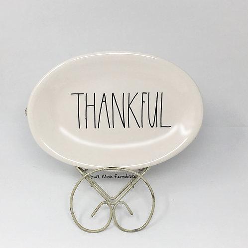 Rae Dunn Thankful Plate