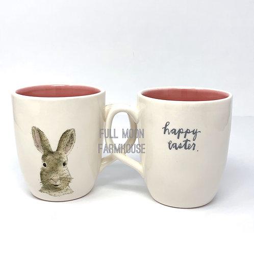 Rae Dunn Happy Easter Bunny Double Sided Mug