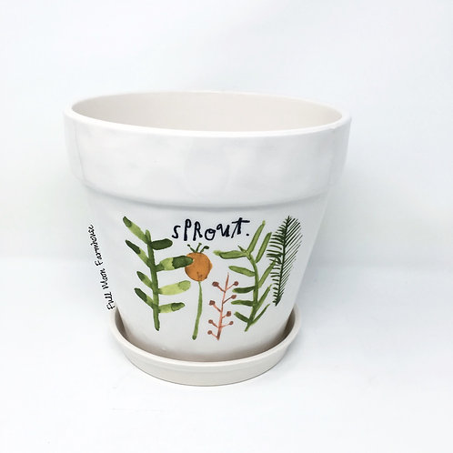 Rae Dunn Sprout Planter