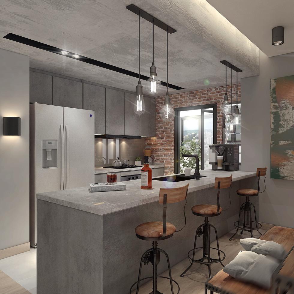 4 Room Kitchen Area