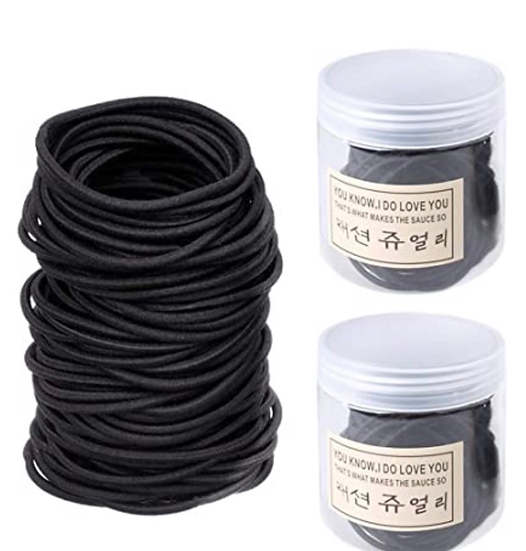 Black Elastic Hair Bands