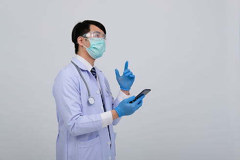 practitioner-wearing-mask-with-smartphon