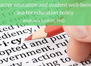 Character Education and Student Well-being: A Case for Education Policy