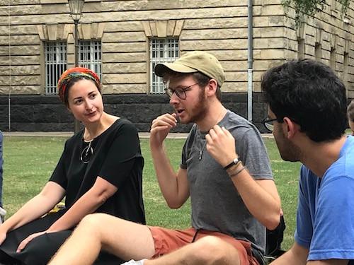 JASS participants chatting outside