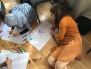 JASS participants creating materials