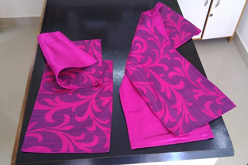 Magenta Table Runner and Placemats