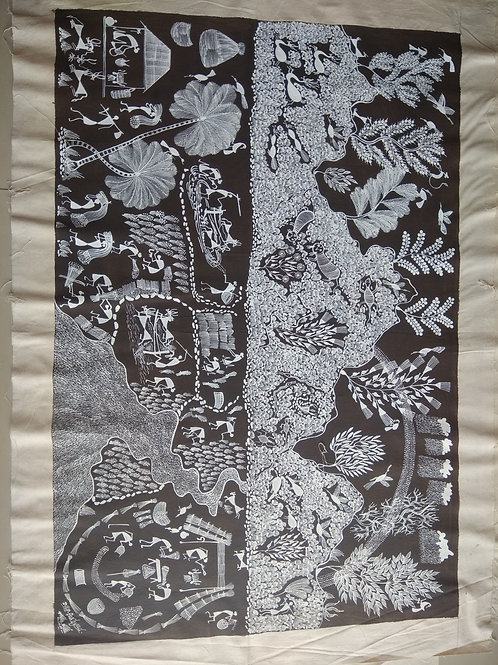 Warli Tribal Art - Medium