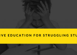 Can ALL Students Benefit from Positive Education? Positive Education for Struggling Students