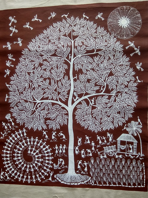 Warli Tribal Art - Large