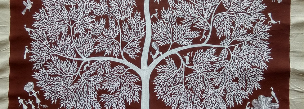 Warli Tribal paintings on canvas large s