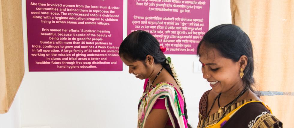 SUNDAR India Staff Cutting & packing the