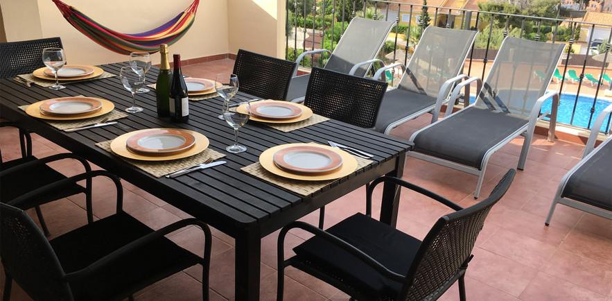 MAIN FRONT BALCONY IDEAL FOR AL FRESCO DINING