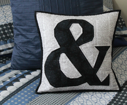 Ampersand Cushion by Rose Johnston