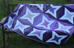 Purple Diamond Stars by Jane Kelly