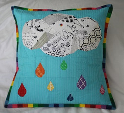 Rainy Days Cushion by Kristy Lea