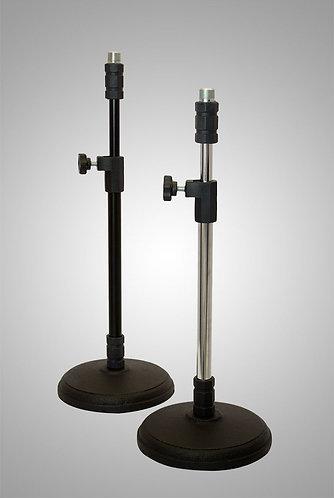 pedestal para microfone de mesa modelo telescópio