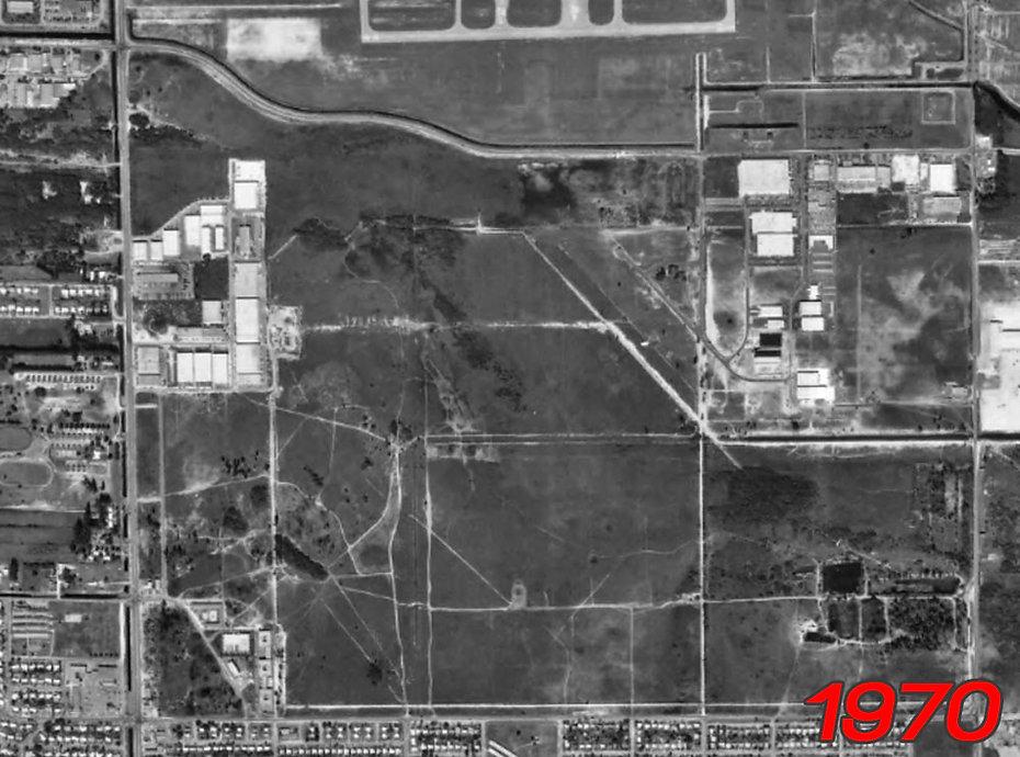 Site of Amelia Earhart Park in 1970.