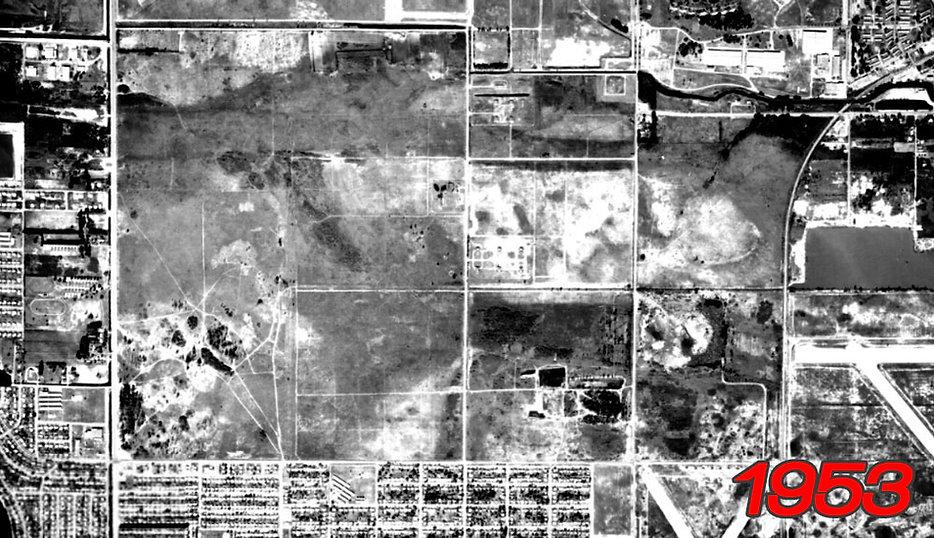 Site of Amelia Earhart Park in 1953.