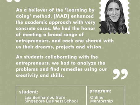 A word from our student Lea