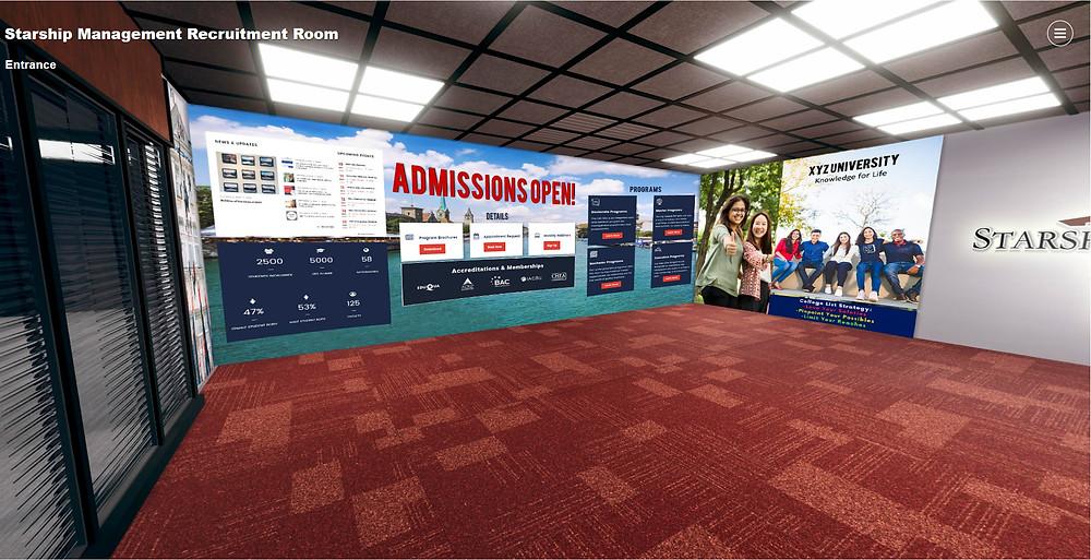 Sample XR recruitment room
