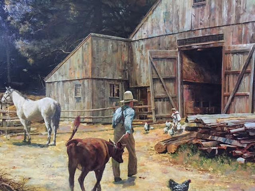 STURBRIDGE FARM- Original Oil
