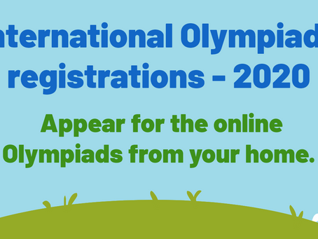 Olympiad Exams 2020 |  Olympiad Registrations | Math , Science, English and other Olympiads | Dates.