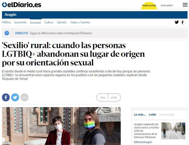 'Sexilio' rural cuando las personas LGTB