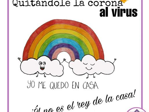QUITÁNDOLE LA CORONA AL VIRUS: ÉL NO ES EL REY NI LA REINA DE LA CASA