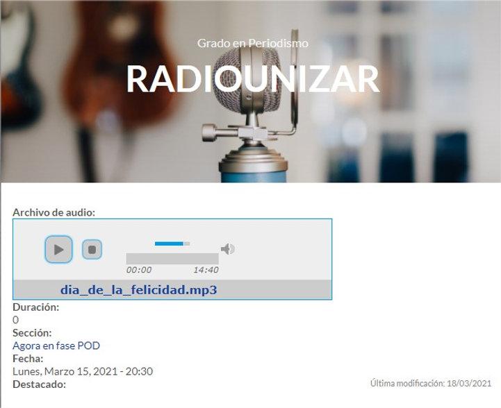 Día de la felicidad  Radio UNIZAR - Goog